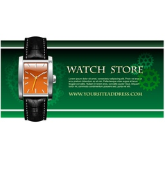 classic analog mens wrist watch vector image vector image