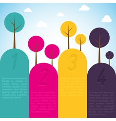 Cmyk banners with trees vector image vector image