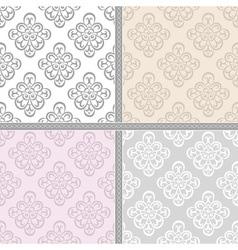 Pastel ethnic seamless background vector image