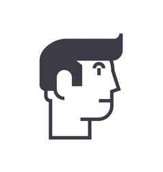 profile man line icon sign vector image vector image