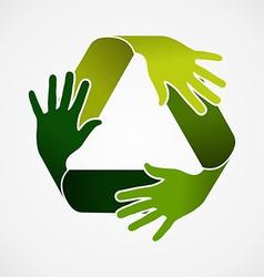 Recycle teamwork concept vector