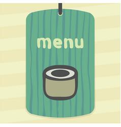 sushi roll japan food icon modern logo vector image vector image