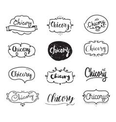 Chicory inscription Logo set Typography design vector image