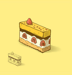 raspberry cake vector image vector image