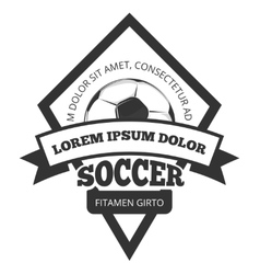 soccer logo template emblem in black vector image