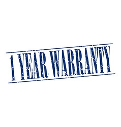1 year warranty blue grunge vintage stamp isolated vector
