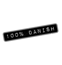 100 percent danish rubber stamp vector