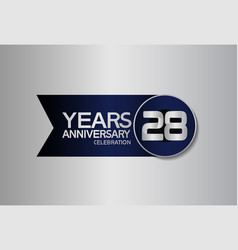 28 years anniversary logo style with circle vector