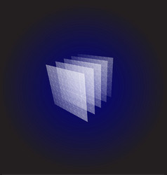 Abstract shape blue geometric visualization vector