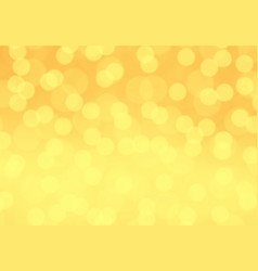 abstract yellow blur bokeh light background vector image