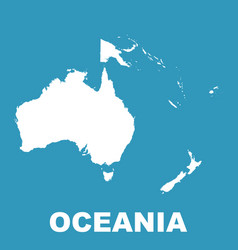 australia and oceania map flat vector image
