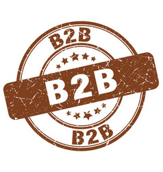 B2b brown grunge stamp vector