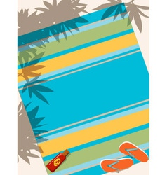 Beach towel vector