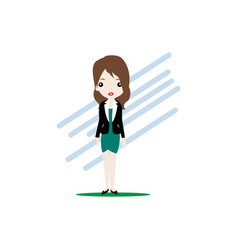 beautiful employee woman flat design vector image