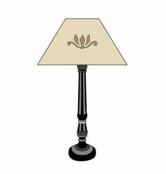 Bedside lamp vector