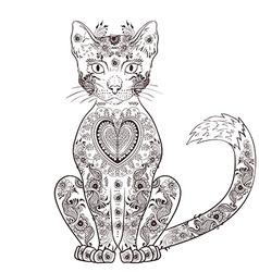 Black cat artistic vector