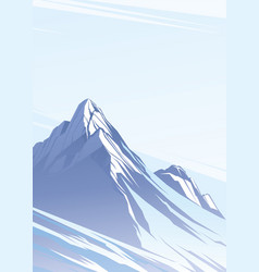 Blue mountains with snow vector