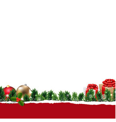 border with gift box vector image
