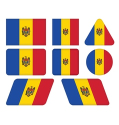 buttons with flag of Moldova vector image