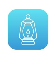 Camping lantern line icon vector image