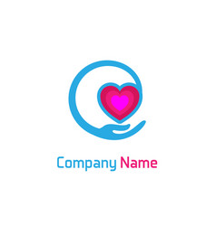 care heart logo vector image