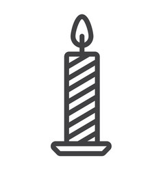 christmas candle line icon new year and christmas vector image