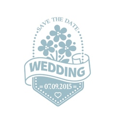 Classic wedding vintage badge vector image
