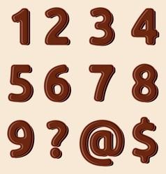 Cokoladni brojevi resize vector image