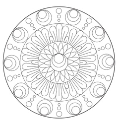Coloring Floral Abstraction Ornament vector