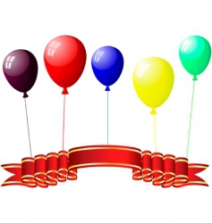 colourful balloons with glare vector image