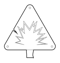 Danger sign icon outline style vector