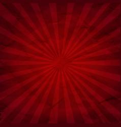dark red sunburst background vector image