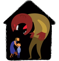 Domestic abuse vector image