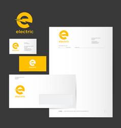 e logo identity card letter envelope vector image
