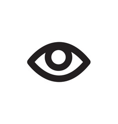 Eye icon in flat style for app ui websites black vector