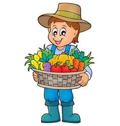 farmer topic image 4 vector image
