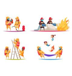 fireguards flat design concept vector image
