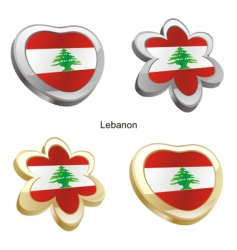 flag of Lebanon vector image