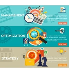 Freelance Management and Optimization Concept vector image vector image