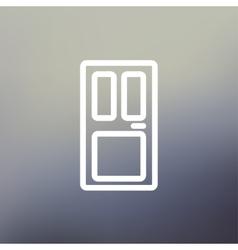 Front door thin line icon vector