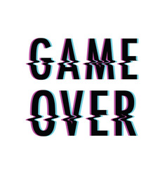Game over glitch vector