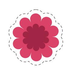 Gerbera flower spring color cut line vector