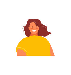 Girl web avatar vector