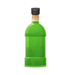 Glass bottle absinon white background vector