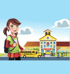Going to school vector