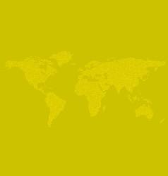 Halftone world map background - design vector