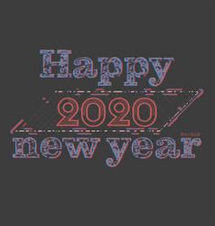 Happy new year 2020 concepts scene vector