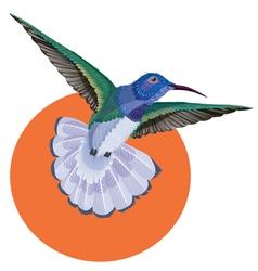 Hummingbird tattoo watercolor painting vector image