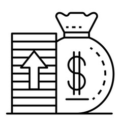 increase money icon outline style vector image