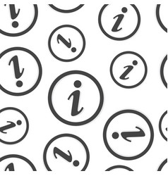 information icon seamless pattern background vector image